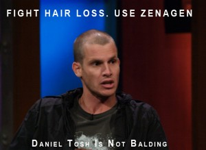 daniel tosh hair loss photo losing his hair going bald