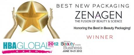 Zenagen Wins HBA Global 2012 Best New Packaging Showcase Award